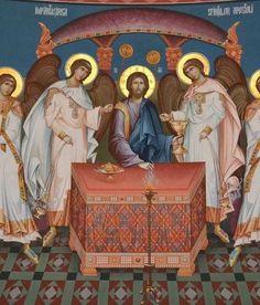 Eucharistia Byzantine Art, Byzantine Icons, Religious Icons, Religious Art, Roman Church, Life Of Christ, Eucharist, Jesus Is Lord, Jesus Cristo
