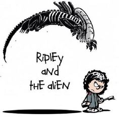 Alien (1979) / Calvin & Hobbes mash-up