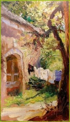 """""""Laundry Day -  .....I USE TO HANG MOST ALL OF THE LAUNDRY ON AN OUTSIDE LINE.....I LOVED THE CRISPNESS & FRESH-AIR SMELL.......IN ARKANSAS I HAD TO STOP BECAUSE OF ALL THE GNATS & BUGS.......I MISSED MY OUTSIDE LINES......ccp"""