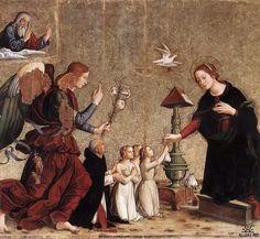 Antoniazzo Romano (1430–1508)   l'Annonciation Santa Maria sopra Minerva, Rome
