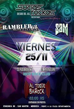 """Sucias Rockas"""" en Mendoza + Fiesta Rockera Hay fiesta de rock en San Martín!!!  Viernes 25 de Noviembre - 23.30hs Sucias Rockas (Buenos Aires) en San Martín, Mendoza. Presentando """"Discoraz�... http://sientemendoza.com/event/sucias-rockas-en-mendoza-fiesta-rockera/"""