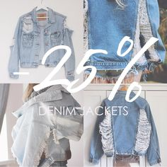 Only for one week: ⠀  25% OFF - DENIM JACKETS!⠀  ⠀  SHOP (link in bio): Sisu Store ⠀  ⠀  ⠀  #denimjacket #rippeddenim #denim #denimondenim #denimclothing #vintageclothing #vintageitem #sisustore #sisudenim #instagood #instaseller #etsybusiness #poletsy #etsypoland