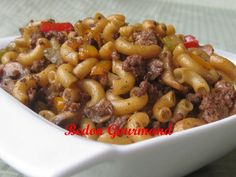 le boeuf et le. Macaroni Recipes, Meat Recipes, Pasta Recipes, Cooking Recipes, Greek Potatoes, Confort Food, International Recipes, How To Cook Pasta, Pasta Dishes