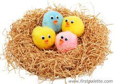 Baby Birds in a Nest craft