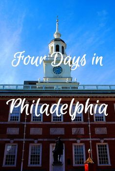 Looking for things to do in Philadelphia? I have the inside scoop on what to do and the best restaurants for an itinerary for four days in Philadelphia! Oh The Places You'll Go, Cool Places To Visit, Places To Travel, Travel Destinations, Philadelphia Things To Do, Visit Philadelphia, Dc Travel, Adventure Travel, Travel Guide