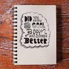 Did you know a cool brain sleeps better? #lettering #typography #handlettering #paperfuel