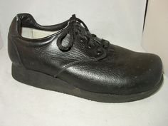 P W Minor Shoes Mens Size 9.5 Black Extra Depth Orthopedic Made in USA Sz 9 1/2 #PWMinor #Oxfords