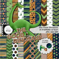 The Good Dinosaur Digital Paper Pack  30 by DigitalStudioDesigns