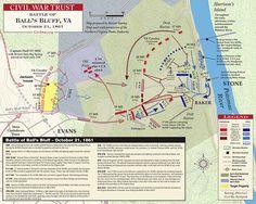 Battle of Ball's Bluff Map