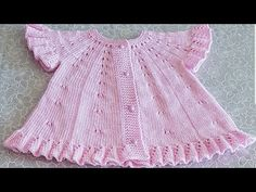 Fashion and Lifestyle Crochet Baby Dress Free Pattern, Afghan Crochet Patterns, Baby Knitting Patterns, Baby Patterns, Knitting Videos, Crochet Videos, Baby Cardigan, Crochet For Kids, Knit Crochet
