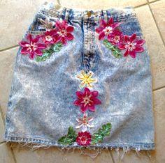 Vintage Guess Jean Skirt Distressed Denim by KarynJamieDesigns Handmade Skirts, Handmade Shop, Etsy Handmade, Handmade Items, My Fb, Guess Jeans, Little Girl Fashion, Christmas Birthday, Invitations