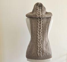 hand-knit wool vest