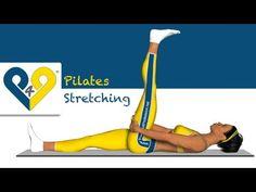 Pilates egzersiz - Arka kalça kaslarını gerdirme (yatar pozisyonda) - YouTube