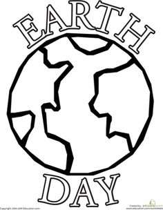 Color The Earth Day Planet