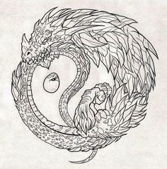Image result for dragon ouroboros sketch