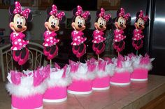 minnie mouse party ideas for 2nd birthday | 5pc minnie mouse centerpiece birthday party by birthdayparty2