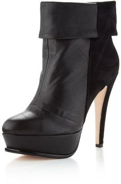 ShopStyle: Dolce Vita Calla Mixed-Media Boot, Black