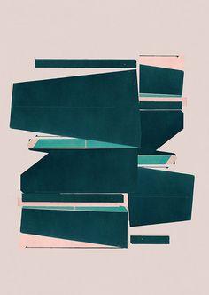 Abstract composition 557 modern art minimal art by jesusperea
