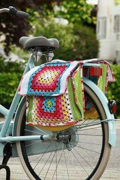 Crochet inspiration for bike bags