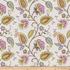 Fabricut Janowitz Rose from @fabricdotcom  Screen printed on 100% cotton, this medium/heavyweight fabric features a floral pattern and is perfect for window accents (draperies, valances, curtains, and swags), accent pillows, duvet covers, and upholstery projects.