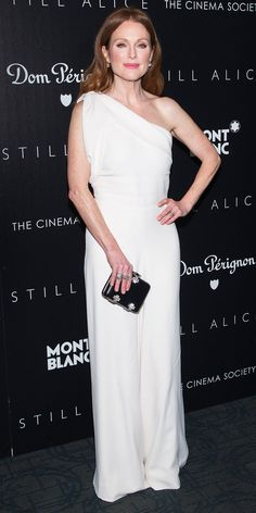 Julianne Moore's Red Carpet Style - In Alexander McQueen, 2015 - from InStyle.com