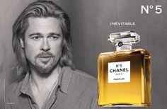 Brad Pitt Chanel No 5 Advertisement #chanel #celebrity #BradPitt
