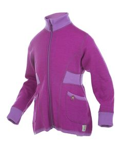 Sale Purple & Pink Two-Tone Merino Wool Jacket by Janus