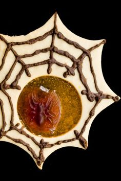 Spooky Spider Stained Glass Cookies for Halloween