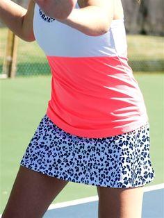JoFit Swing Tennis Skort in Cheetah Print at #Golf4Her.com