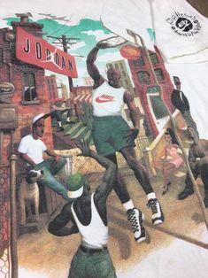 432adf5facd99e Vintage Nike Jordan Hoop Heroes 90s Michael Jordan T-Shirt LARGE  MichaelJordan  Michael Jordan