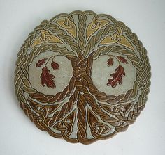 Tree of Life Oak Knot -  With no beginning or end, the knot in Celtic art symbolizes interconnectedness and eternity, and the oak symbolizes strength, wisdom and nobility.