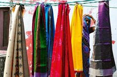 Silk and ikat weaving, Tussar