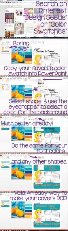 How to Make Your Covers POP!  An easy tutorial for your TpT Product Covers from Mrs. Brosseau's Binder!