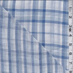 "Sea Glass Green, Blue & White Stripe/Muted Plaid  with Sea Glass Green, Blue & White Plaid Reverse  Double Faced Reversible Gauze Fabric   Suitable for Blouses  100% Cotton  56"" wide  Machine Washable  Usually $12.00/yd  $5.75 per yard  $3.95 per yard  On Sale Until 6/18/2012"