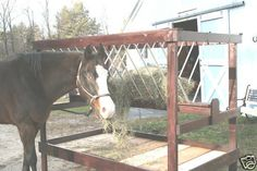 Plans for a Wooden Do It Yourself Hay Feeder for Horses in Sporting Goods, Outdoor Sports, Equestrian Horse Shed, Horse Stalls, Horse Barns, Horse Tack, Hay Feeder For Horses, Horse Feeder, Diy Hay Feeder, Horse Shelter, Dream Barn