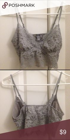 Lacey grey bralette Lacey grey bralette with adjustable straps. I love to wear it as a top in the summer with a maxi skirt. Good condition I'm just trying to downsize my closet. aerie Intimates & Sleepwear Bras
