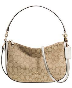 784066b53037 COACH Chelsea Crossbody in Signature Jacquard Handbags   Accessories -  Macy s