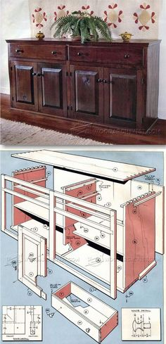 Sideboard Chest Plans - Furniture Plans and Projects | http://WoodArchivist.com