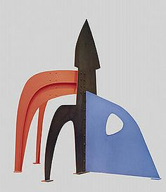 "Obus, 1972, Alexander Calder Sheet metal and paint 142 1/2"" x 152"" x 89 5/8"" National Gallery of Art, Washington, D.C."