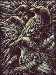 Ravens #Raven #Crow #art