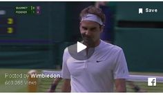 Quiet please, genius at work on Centre Court: an outrageous trick shot from Roger Federer.Posted by Wimbledon on Thursday, 2 July 2015 Roger Federer, Wimbledon, Tennis, Fans, Mens Tops, Followers
