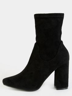 High Shaft Chunky Heel Boots BLACK