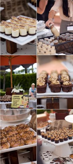 like the themed stations #wedding #catering @stylemepretty