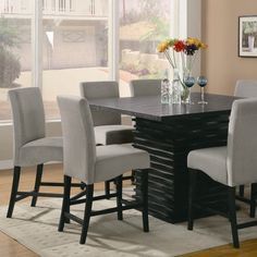 """Receive fantastic suggestions on """"pub set in living room"""". They are offered for you on our web site. Pub Table And Chairs, Pub Table Sets, Casual Dining Rooms, Dining Room Sets, Counter Height Dining Table, Dining Table In Kitchen, High Top Tables, Wrought Iron Patio Chairs, Contemporary Dining Table"""