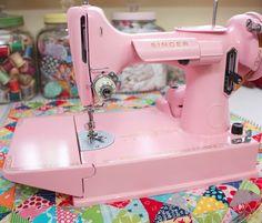Lori @ Bee In My Bonnet…love her darling pink sewing machine!