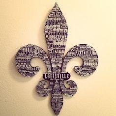 Fleur de Lis with Louisville neighborhood names