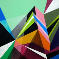 No wonder Matt W. Moore's work is trending right now, the geometric patterns and bold colors pop