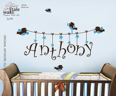 Wall Decal    Name wall decal for girl or boy by wallstaledecor, $39.00