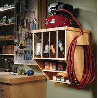 Air Compressor Shelf | Build a wall-mounted unit to keep this handy tool tidy