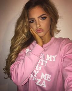 beauty, sophia mitchell, makeup, girl, pink - image by Derek . Makeup Goals, Beauty Makeup, Hair Makeup, Hair Beauty, Makeup Hairstyle, Hairstyle Ideas, Sophia Mitchell, Tumbrl Girls, Chica Cool